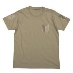 Attack on Titan T-shirt: Scouting Legion brown