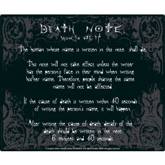Death Note rules mousepad