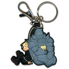 Ed and Al Holding Kitty Keychain
