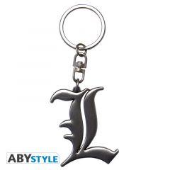 L Symbol 3D emblem key chain
