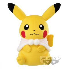 Pikachu met wintercape plush (31cm)