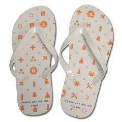 Menu Icon Uni-Sex Flip Flop Slippers 26cm