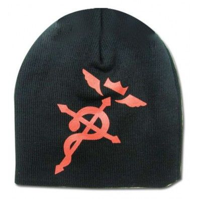 Red Flamel Cross beanie