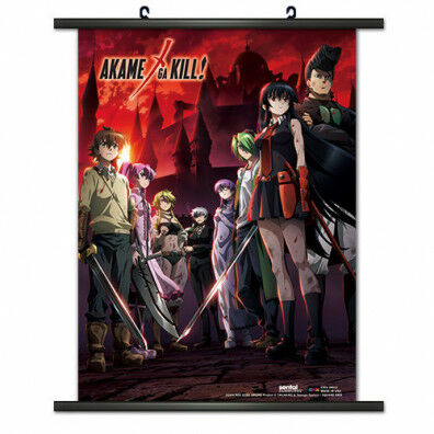 Akame Ga Kill Group Wallscroll