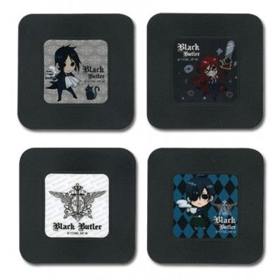 Black Butler Anime Coasters Set - Chibi Characters