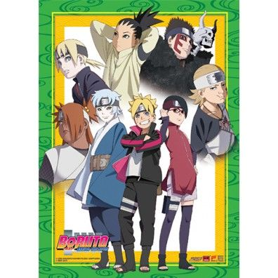 Boruto Junior Group Wallscroll