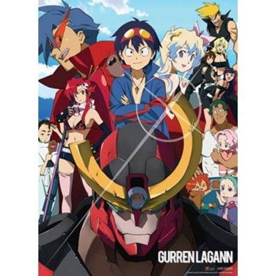 Gurren Lagann - Group Wall Scroll