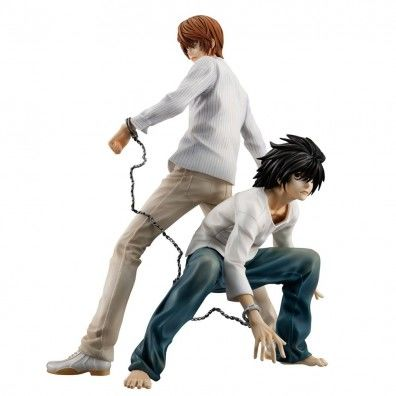 Death Note: Light Yagami & L Gem Series PVC Standbeeld