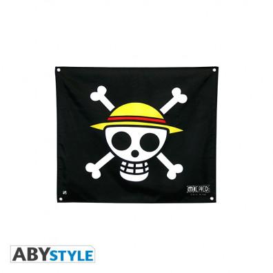 """One Piece - Flag """"Skull - Luffy"""" (50x60)"""