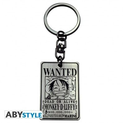 "One Piece - Key chain ""Wanted Luffy"""
