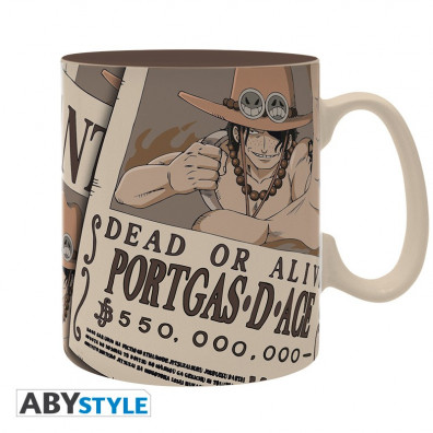 One Piece - Mok - 460 ml - Wanted Ace