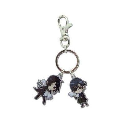Metal Sebastian and Ciel Keychain