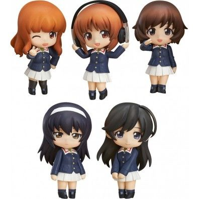 Girls und Panzer der Film Mini Figures Nendoroid Petite 5-Set Ankou Team Ver.