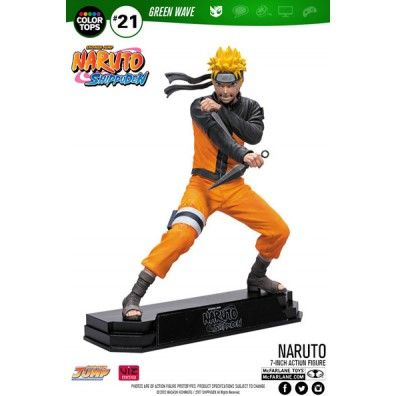Naruto Shippuden Color Tops Action Figure Naruto Uzumaki 18 cm