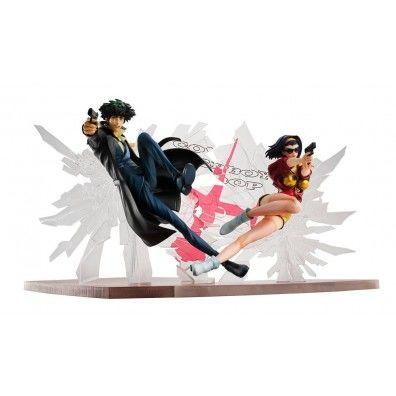 Cowboy Bebop PVC Statues 1/8 Spike Spiegel & Faye Valentine 1st GIG 20 cm